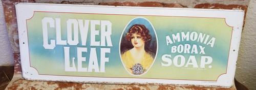 Clover Leaf Ammonia Borax Soap Tin Advertisement - 1974