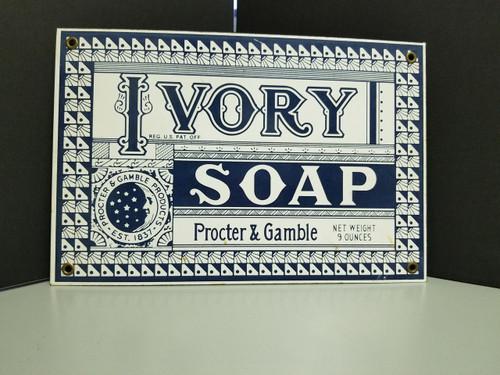 Procter & Gamble Ivory Soap Enameled Metal Sign