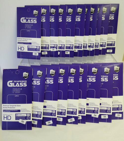 20 Pack LOT Tempered GLASS PRO+ Screen Protectors (S6)