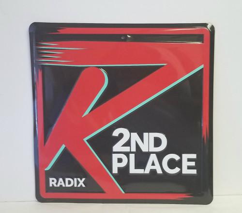 """RADIX Metal/TIN """"2nd PLACE"""" Sign/Award/DECOR"""