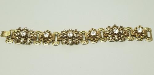 Brass-Tone Ornate Art Deco/Victorian Bracelet