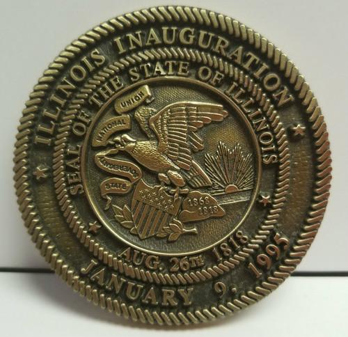 "3"" Illinois Inauguration Medallion January 9, 1995"