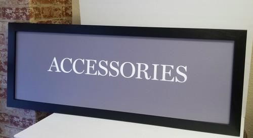 """Accessories"" Boutique Decor/Department Store/Closet Decor"