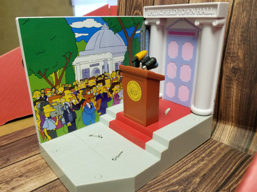 """World of Springfield by Playmates """"Springfield Town Hall Scene"""