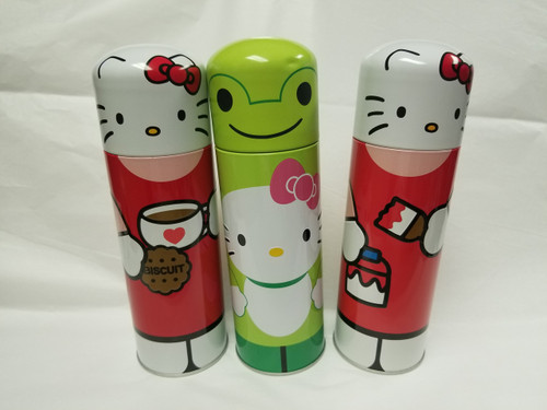 """3 - MIXO HELLO Kitty 8"""" Collectible Tins with Scenes"""