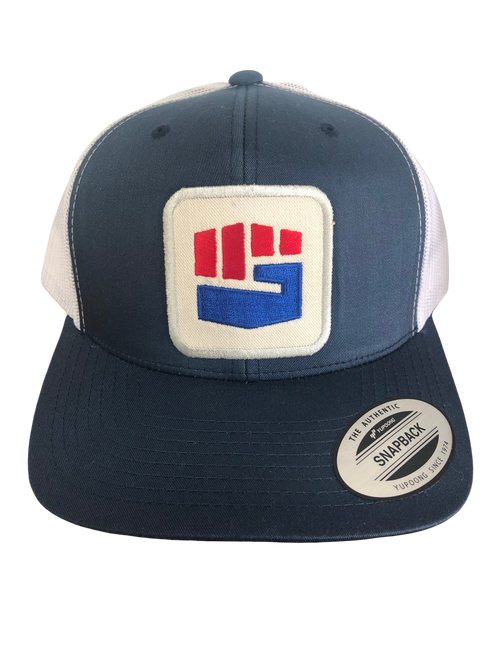 THE TRUCKER HAT - BLUE/WHITE (IN PRODUCTION | SHIPS IN 1- 2 WEEKS)
