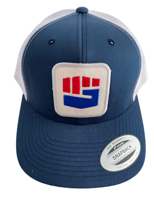 THE TRUCKER HAT - BLUE/WHITE