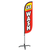 5ft red and yellow Car Wash with X stand
