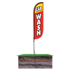 5ft red and yellow Car Wash