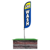 Car Wash Feather Flag Blue & Yellow - 5ft