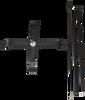 1 Metal X-stand base and 1 Pole Set (3 pieces) - Aluminum and Fiberglass materials