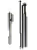 1 Metal Ground Spike and 1 Pole Set (3 pieces) - Aluminum and Fiberglass materials
