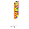 5ft Party Feather Flag with X stand pole set