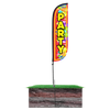 5ft Party Feather Flag with spike pole set