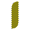 5ft Yellow & Black Checkered Feather Flag