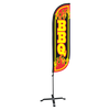 BBQ Feather Flag - 5ft with X stand pole set