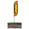 BBQ Feather Flag - 5ft with spike  pole set in ground