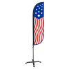 American Flag Feather Flag Old Glory Vertical with X stand pole set