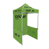 Cricket Wireless - 5ft x 5ft Pop Up Tent Canopy Complete Set Green with side walls