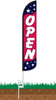 Open Americana Wind-Free Feather Flag with Spike Set