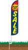 Blow Out Sale Wind-Free Feather Flag with Spike Set