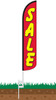 Sale (Red & Yellow) Wind-Free Feather Flag with Ground Spike