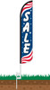 Sale Patriotic Wind-Free Feather Flag with Ground Spike