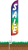 Sale Rainbow Wind-Free Feather Flag with Ground Spike