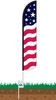 Stars & Bars Wind-Free Feather Flag with Ground Spike