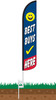 Best Buys Here Wind-Free Feather Flag with Ground Spike