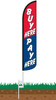 Buy Here Pay Here Wind-Free Feather Flag with Ground Spike