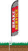 Brake Service Wind-Free Feather Flag with Ground Spike