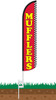 Mufflers Wind-Free Feather Flag with Ground Spike