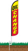 Oil Change Wind-Free Feather Flag with Ground Spike