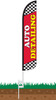 Auto Detailing Wind-Free Feather Flag with Ground Spike