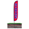 Storage Feather Flag Red in ground
