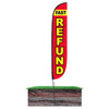 Fast Refund Feather Flag Red in ground