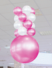 Pink Indoor Balloon 4 Layer Ceiling Column Kit