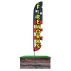Fireworks Feather Flag Red White Blue