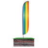 Rainbow Feather Flag in ground