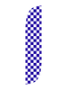 Checkered Feather Flag White & Blue