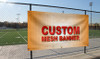 Custom Printed Mesh Banner on Fence