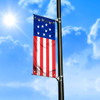 American Flag Light Pole Banner