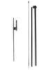 1 Metal Ground Spike and 1 Pole Set (3 pieces) - Aluminum and Fiberglass materials