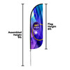 8ft Custom Feather Flags | More Sizes Available