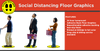 SOCIAL DISTANCING FLOOR GRAPHICS 10 PACK