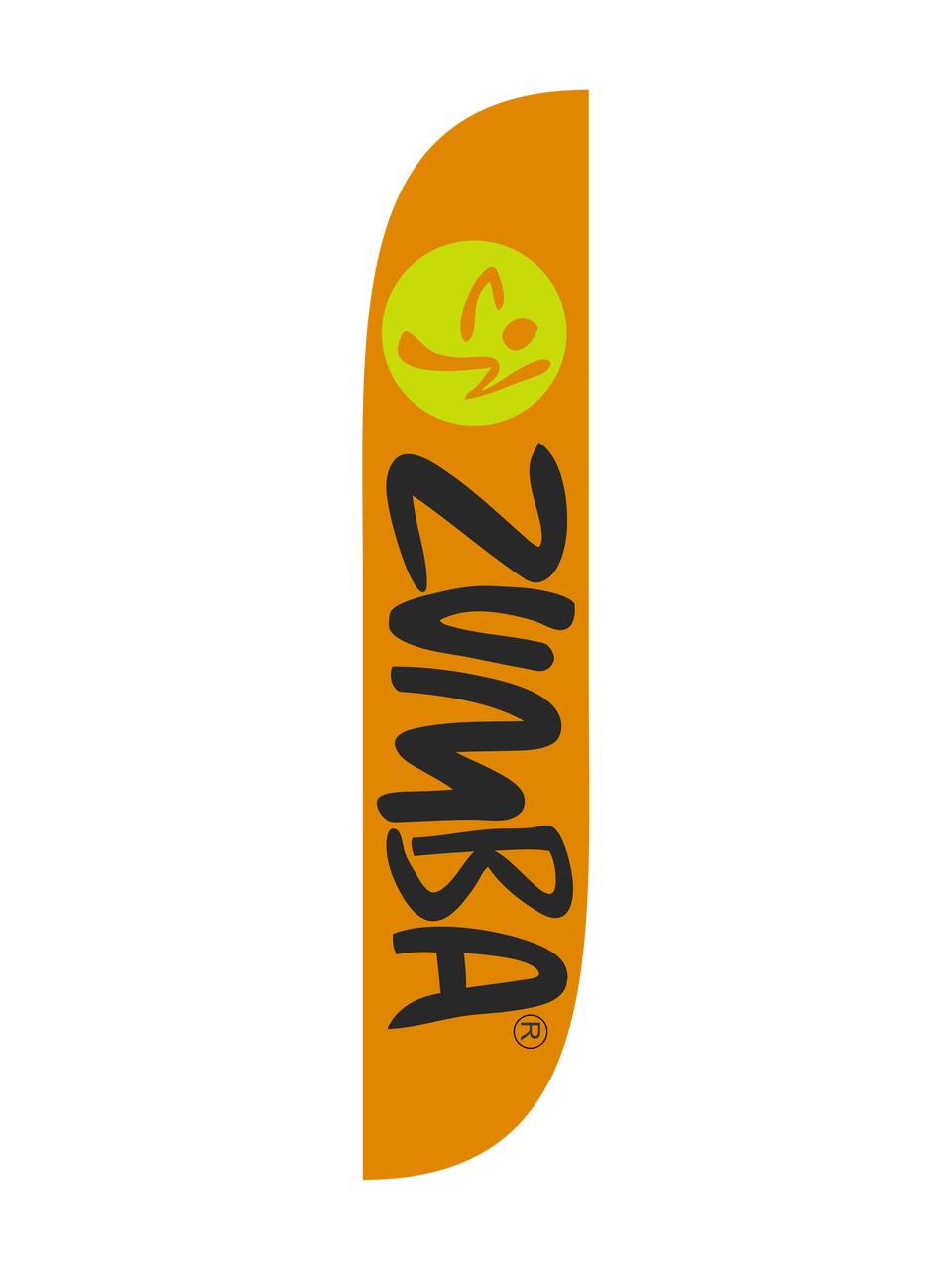 ZUMBA FEATHER FLAG
