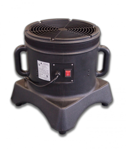"Air Dancer Blower Comes With:  1  blower Blower Specifications:  Number of Speeds:  1 Blower Horsepower:  1/3hp   Power:  110v/60hz Amps:  5.5 CFM: 2,100 IP Rating:  IP44 All parts needed for operation are included Diameter of blower is 12"" Compatible with all 12-inch diameter velcro mount dancing man attachments Proprietary design and functionality. The Mini Air Dancer. Approx. Shipping Dims: 15"" x 15"" x 15"" - (22 lbs)"