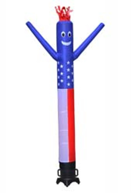 10ft tall  American Flag air dancer is ideal for any retail location.