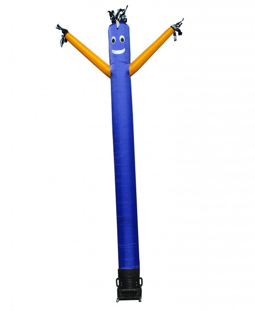 Blue Inflatable Air Dancer with Yellow Arms 10ft tall attachment.